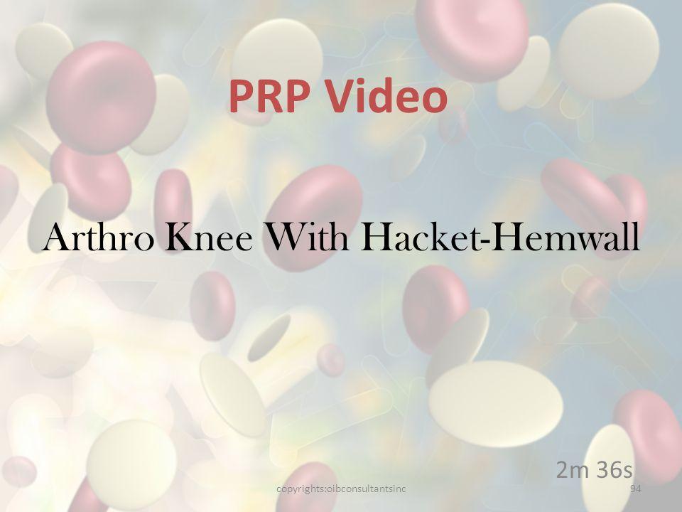 Arthro Knee With Hacket-Hemwall
