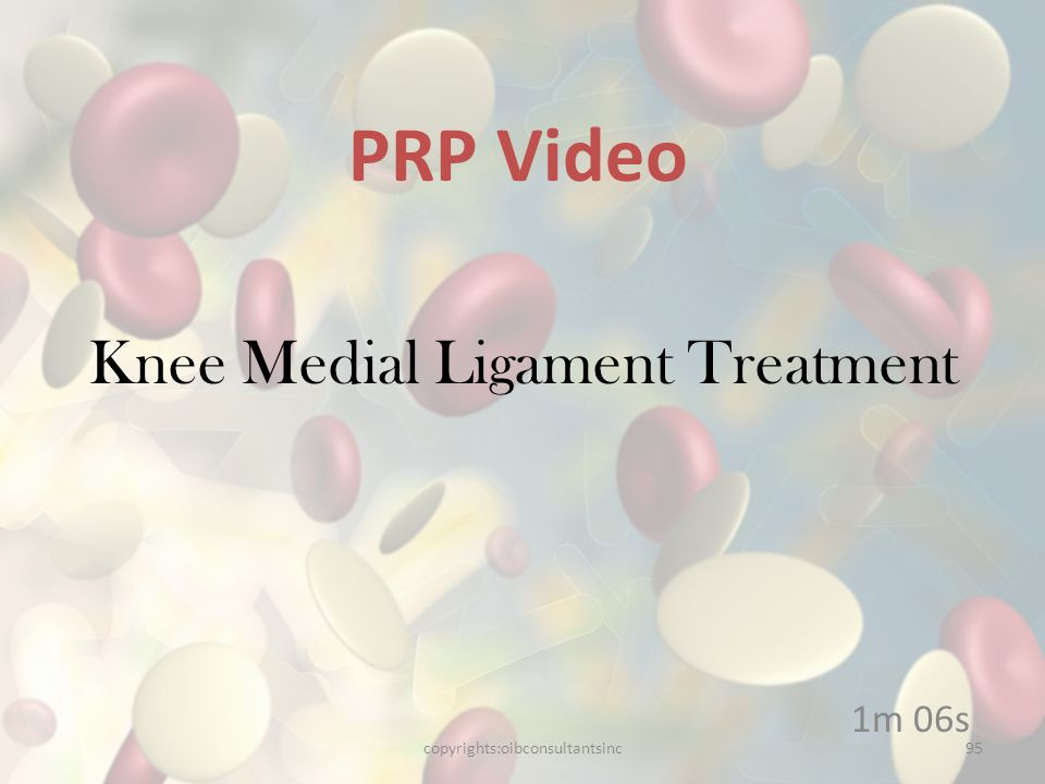 Knee Medial Ligament Treatment