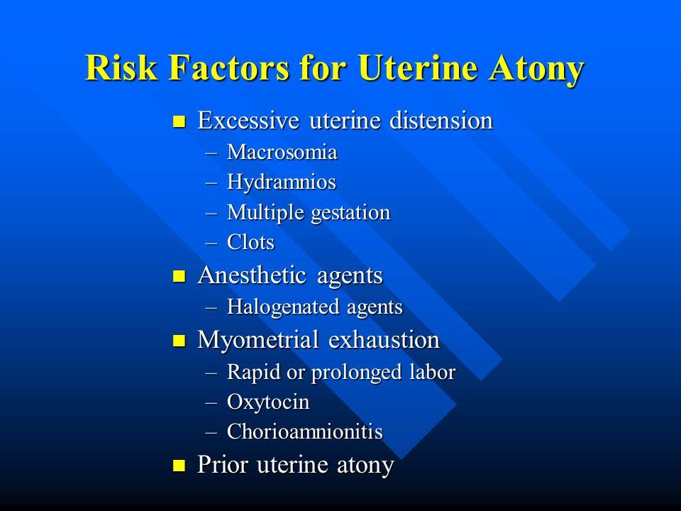 Risk Factors for Uterine Atony