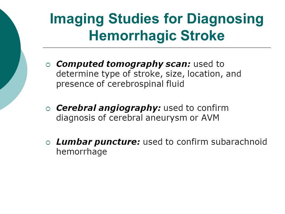 Imaging Studies for Diagnosing Hemorrhagic Stroke