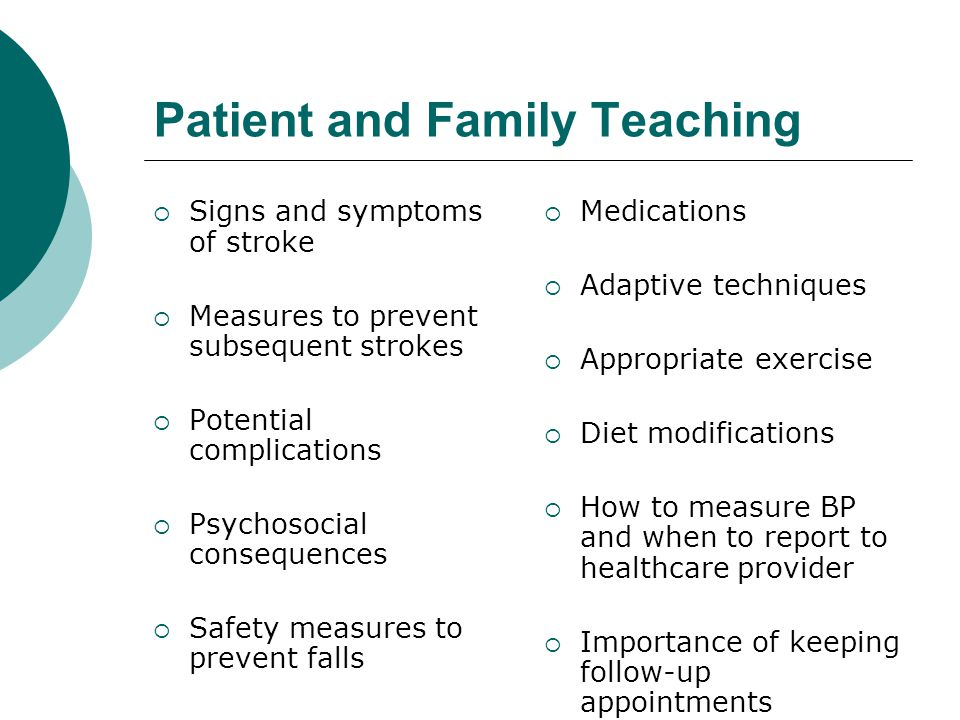 Patient and Family Teaching