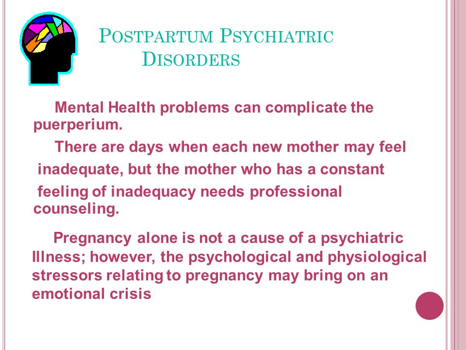 Postpartum Psychiatric Disorders