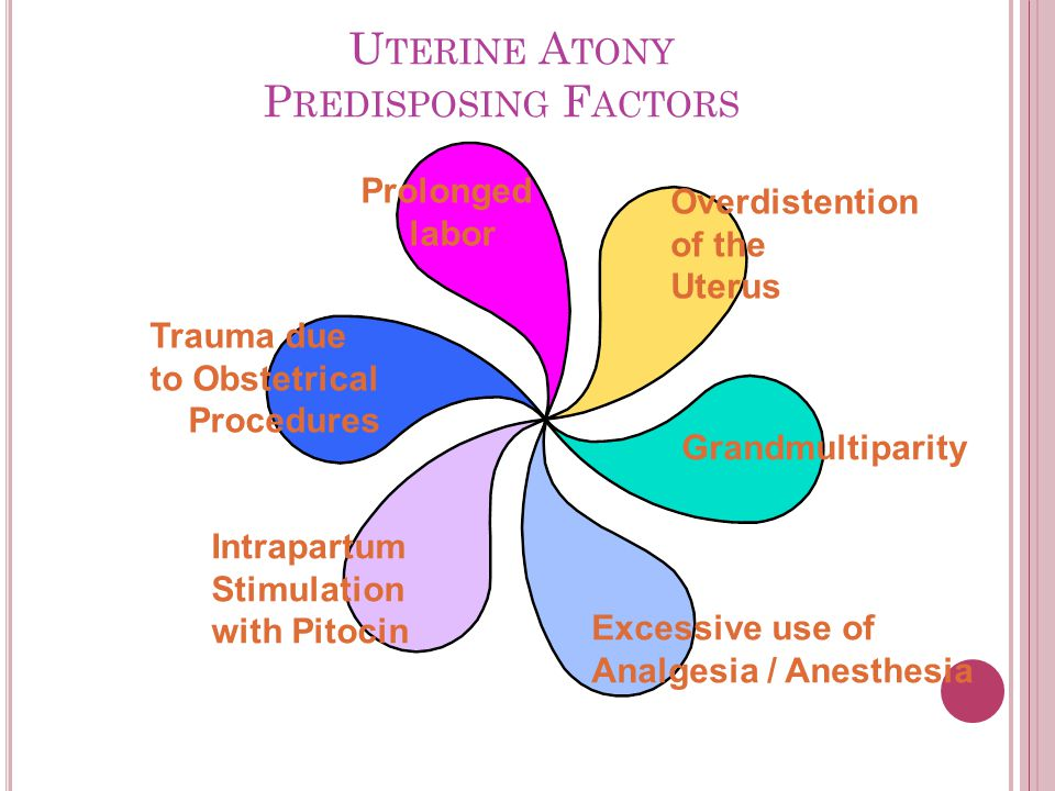 Uterine Atony Predisposing Factors