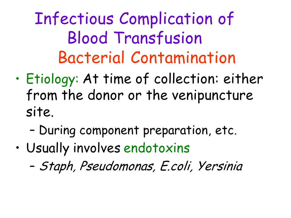 Infectious Complication of Blood Transfusion