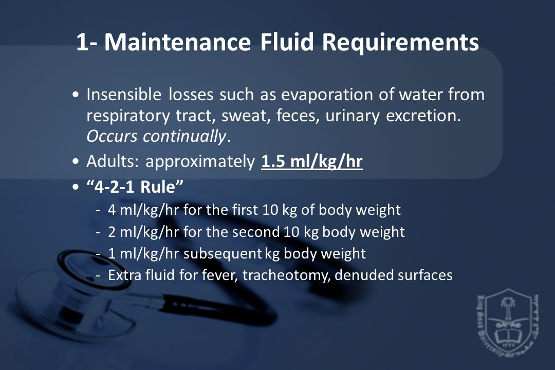 1- Maintenance Fluid Requirements