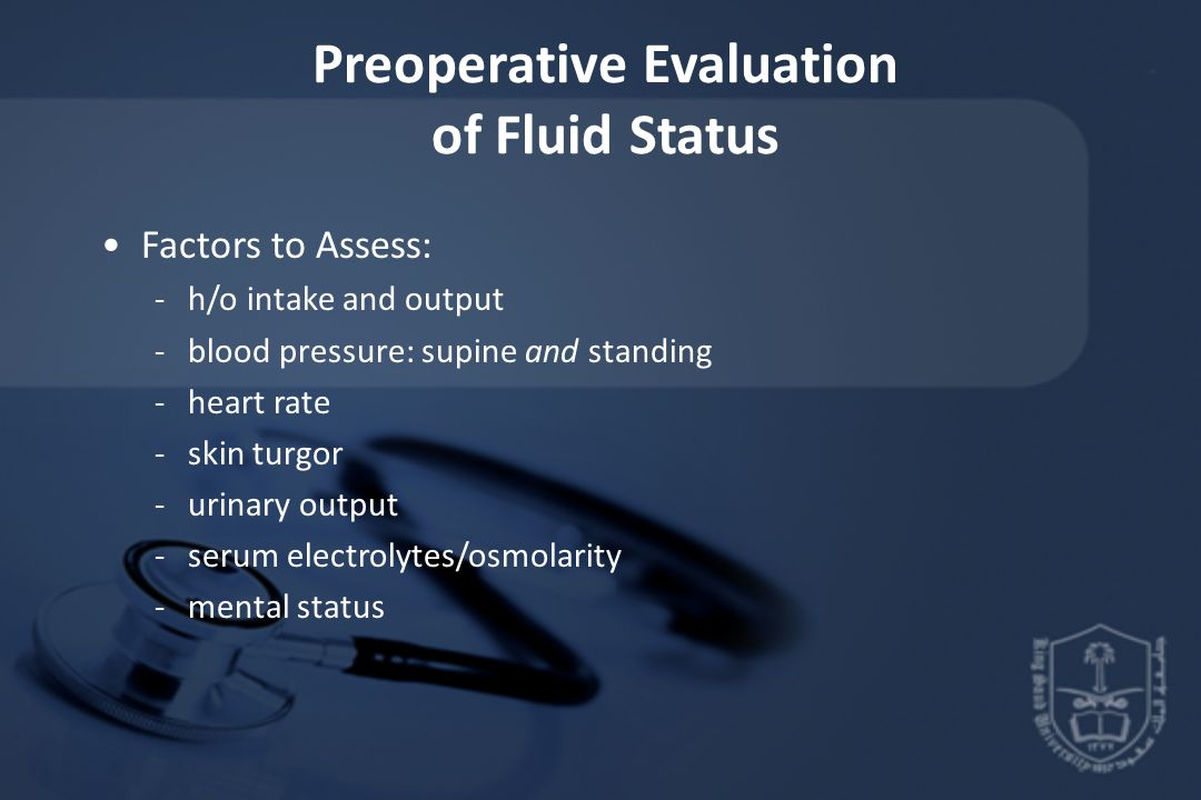 Preoperative Evaluation of Fluid Status