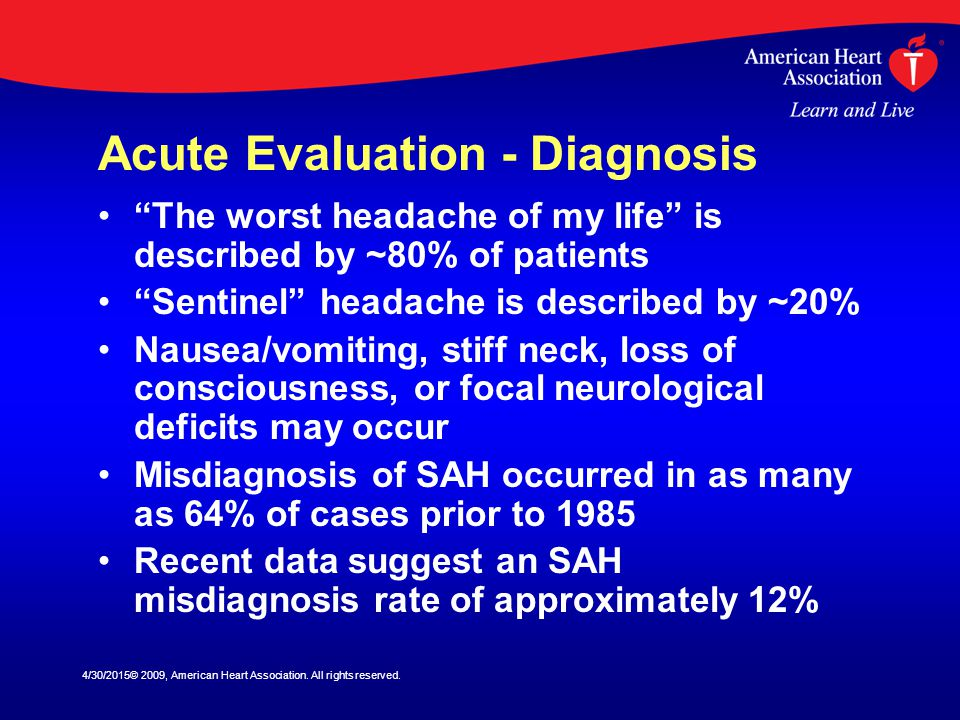 Acute Evaluation - Diagnosis
