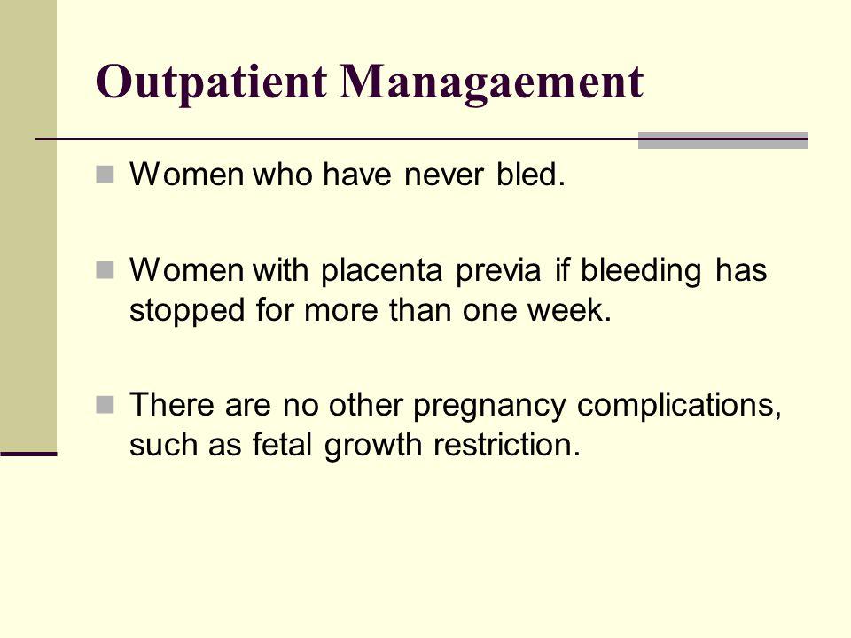 Outpatient Managaement