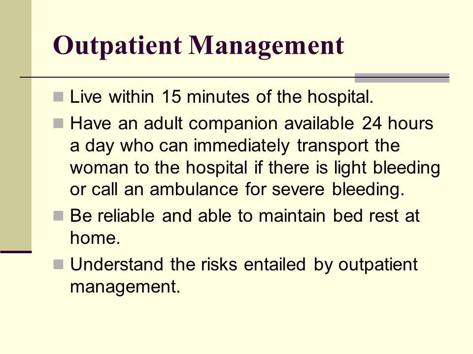 Outpatient Management