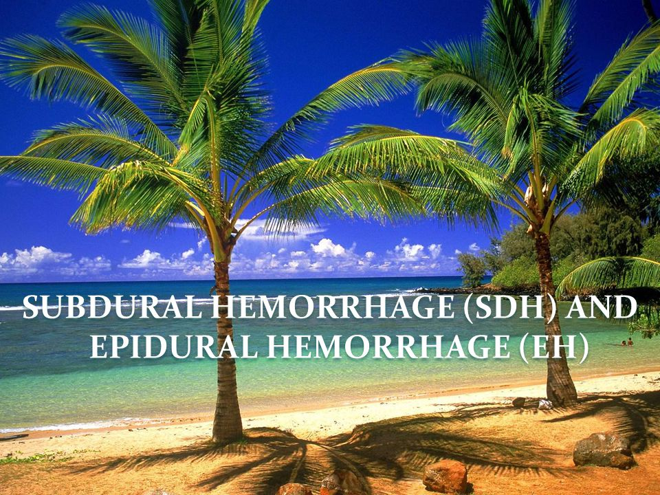 SUBDURAL HEMORRHAGE (SDH) AND EPIDURAL HEMORRHAGE (EH)