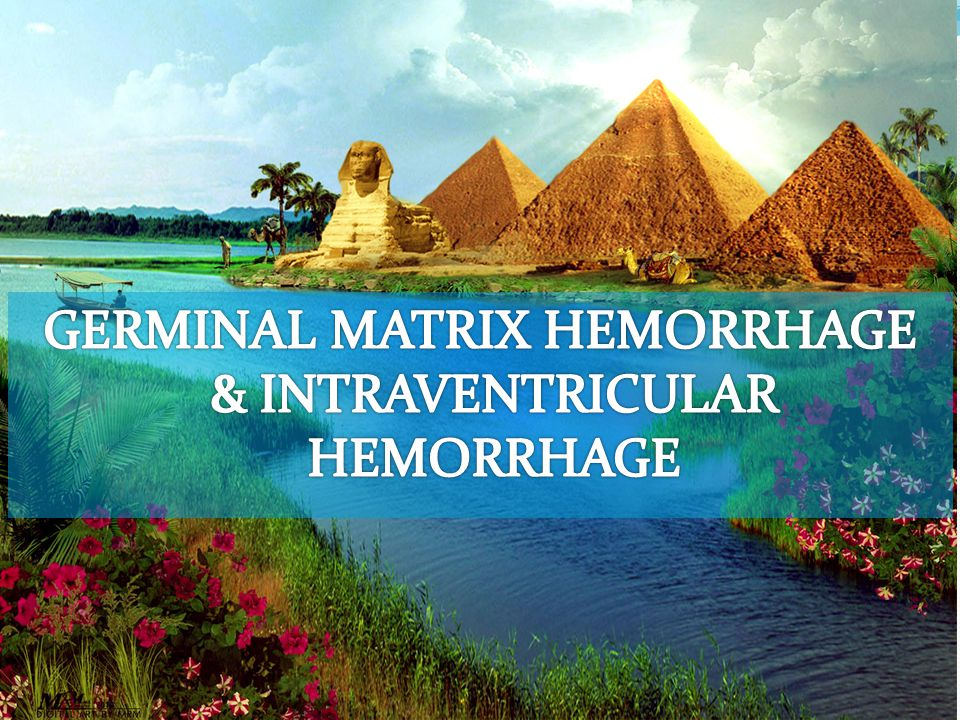 GERMINAL MATRIX HEMORRHAGE & INTRAVENTRICULAR HEMORRHAGE