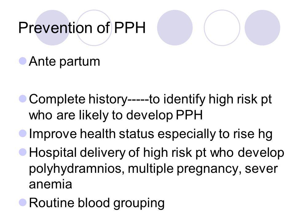 Prevention of PPH Ante partum