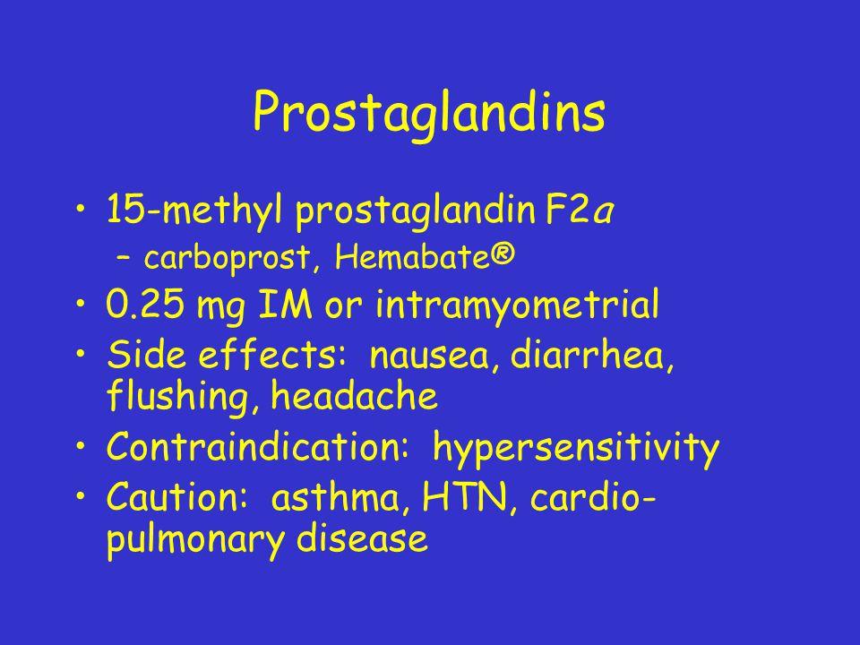 Prostaglandins 15-methyl prostaglandin F2a