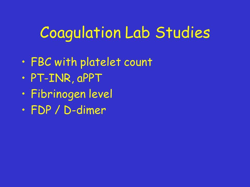 Coagulation Lab Studies