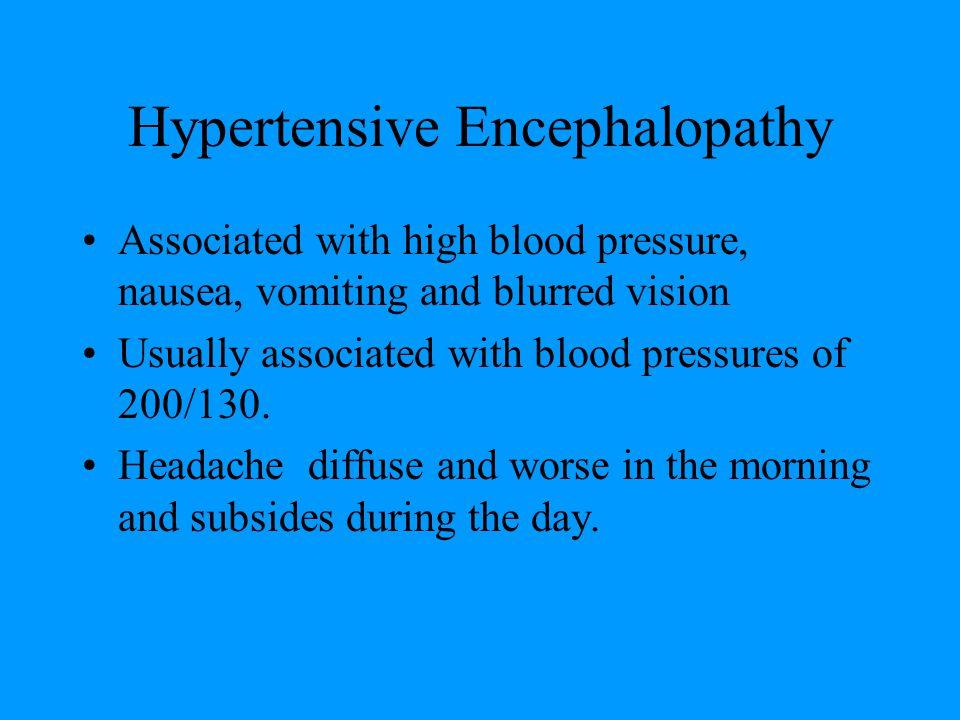 Hypertensive Encephalopathy