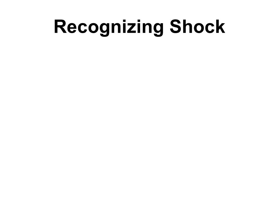 Recognizing Shock