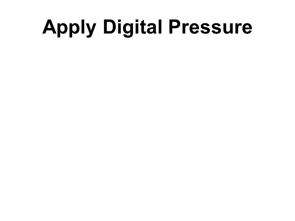 Apply Digital Pressure