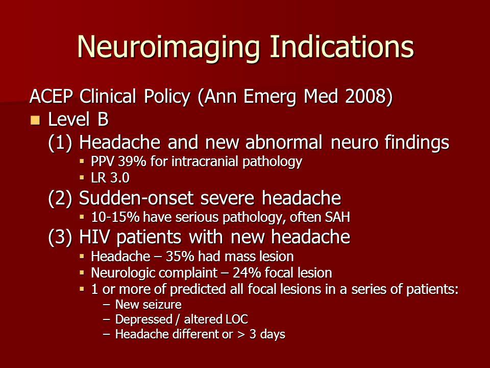 Neuroimaging Indications