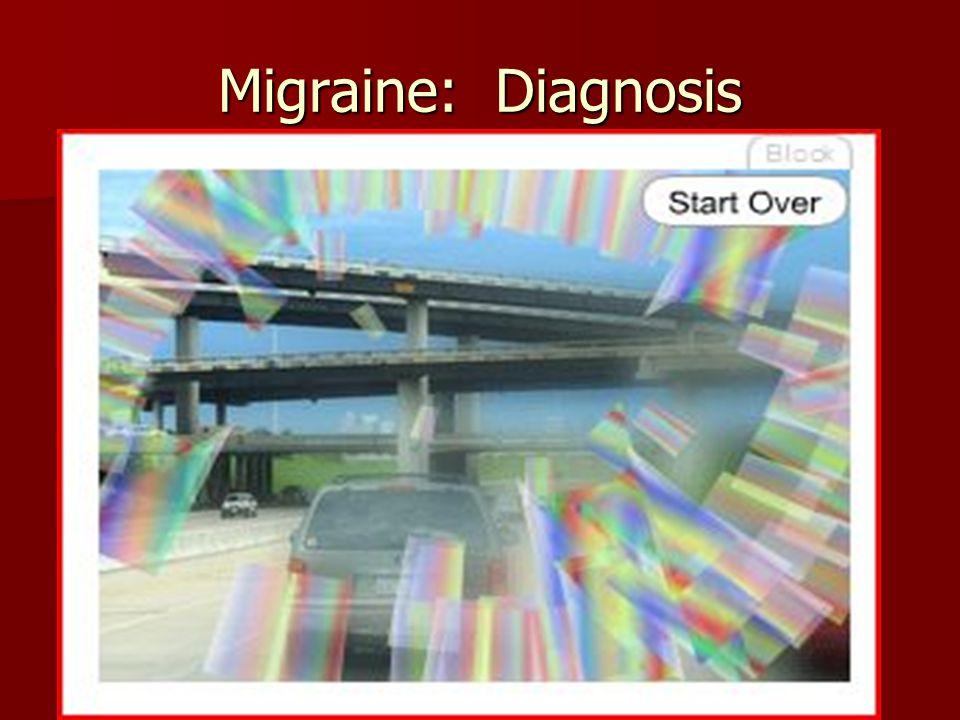 Migraine: Diagnosis Migraine without Aura Migraine with Aura: