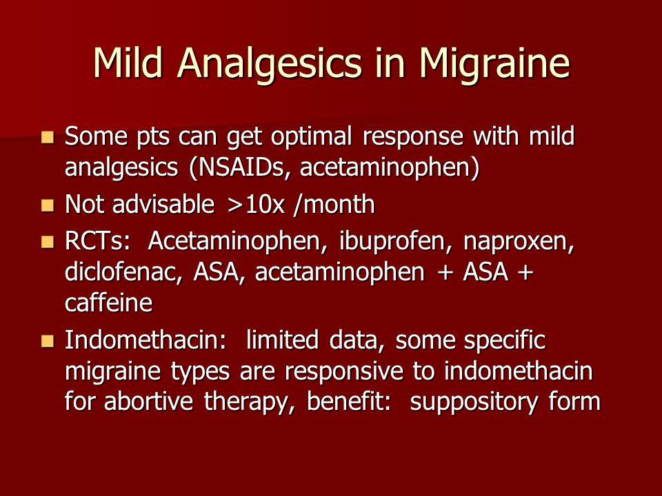 Mild Analgesics in Migraine