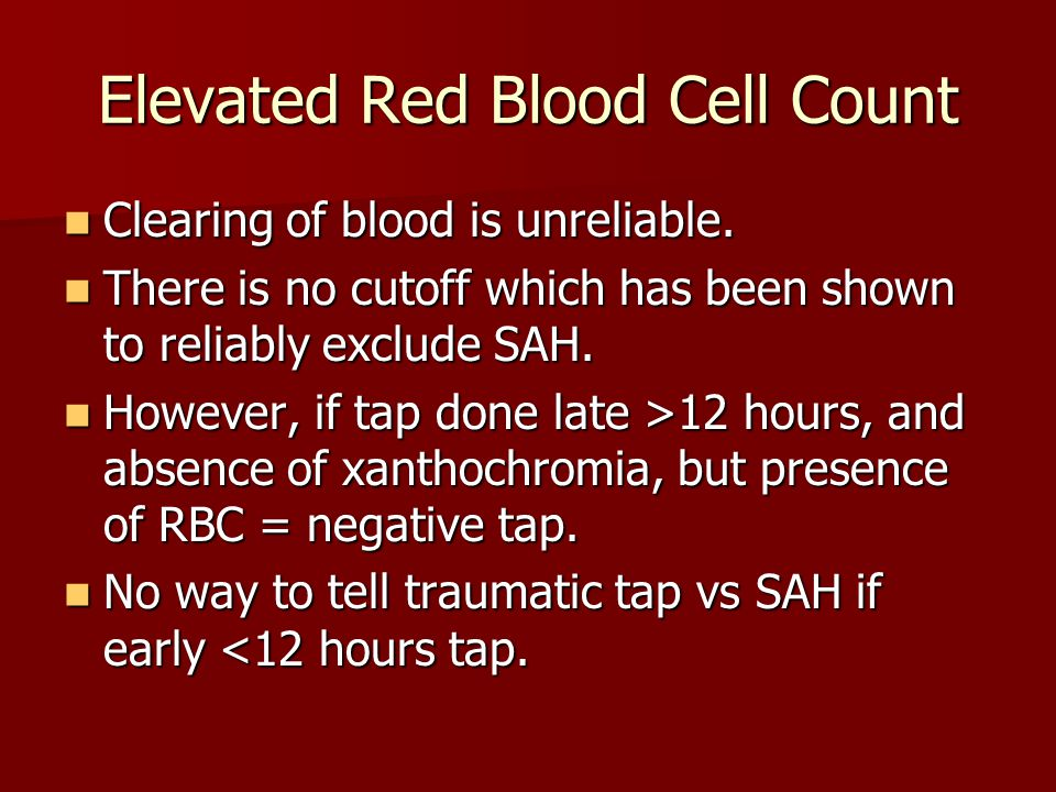 Elevated Red Blood Cell Count