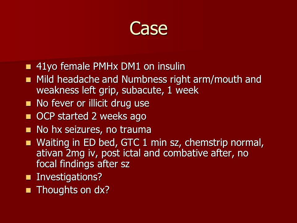 Case 41yo female PMHx DM1 on insulin