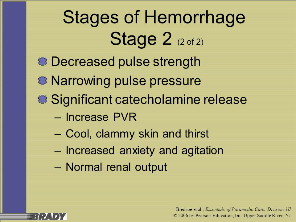 Stages of Hemorrhage Stage 2 (2 of 2)