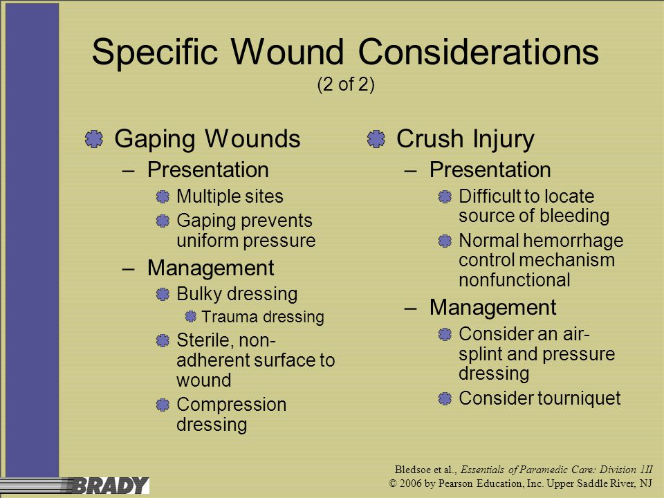 Specific Wound Considerations (2 of 2)