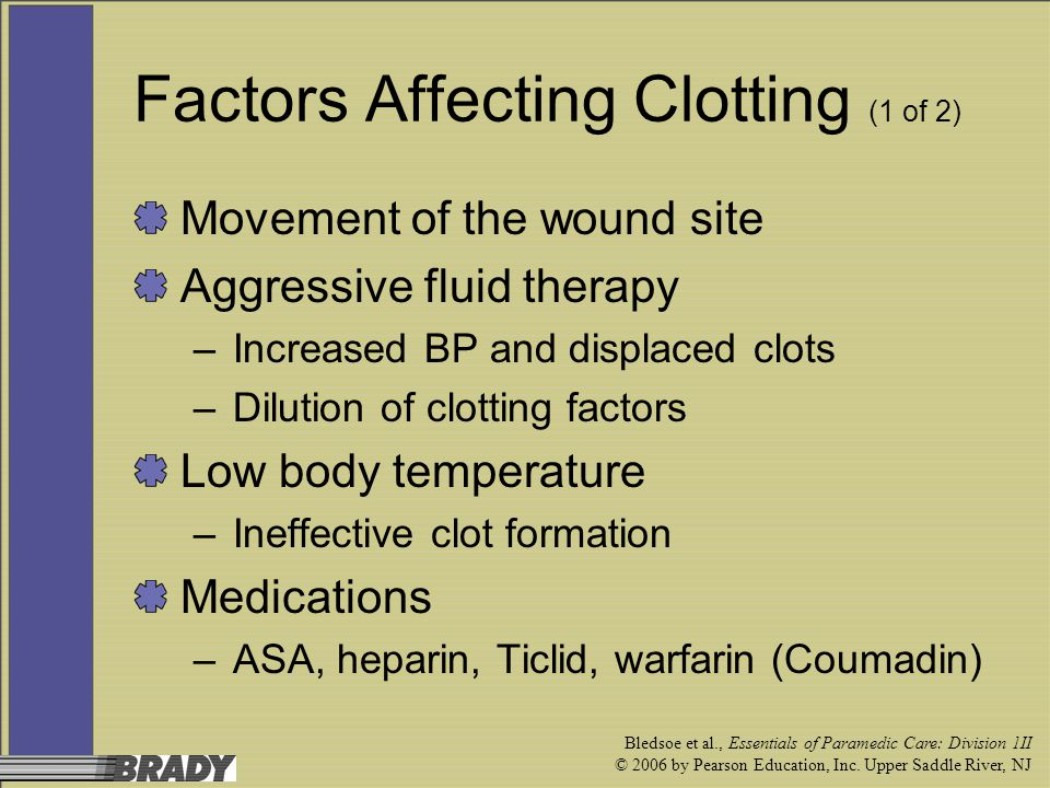 Factors Affecting Clotting (1 of 2)