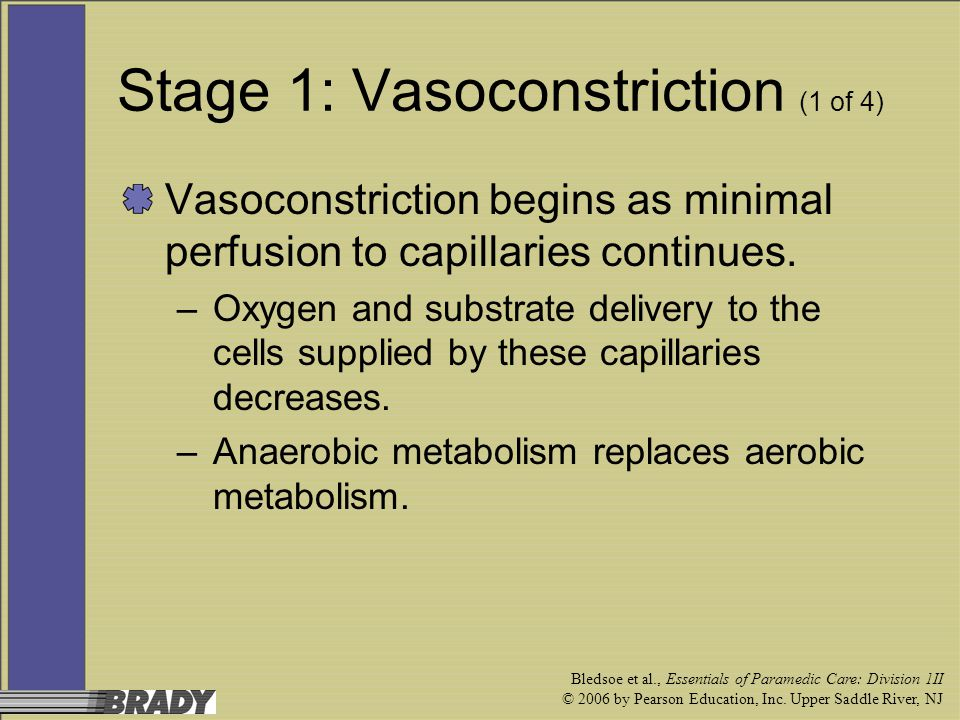 Stage 1: Vasoconstriction (1 of 4)