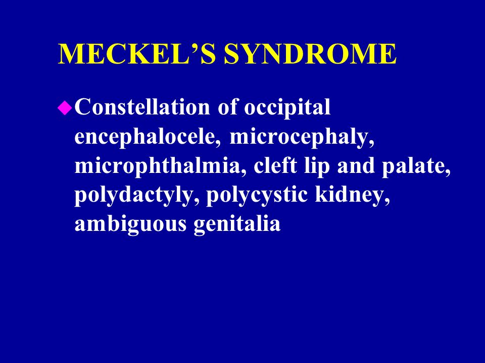 MECKEL'S SYNDROME