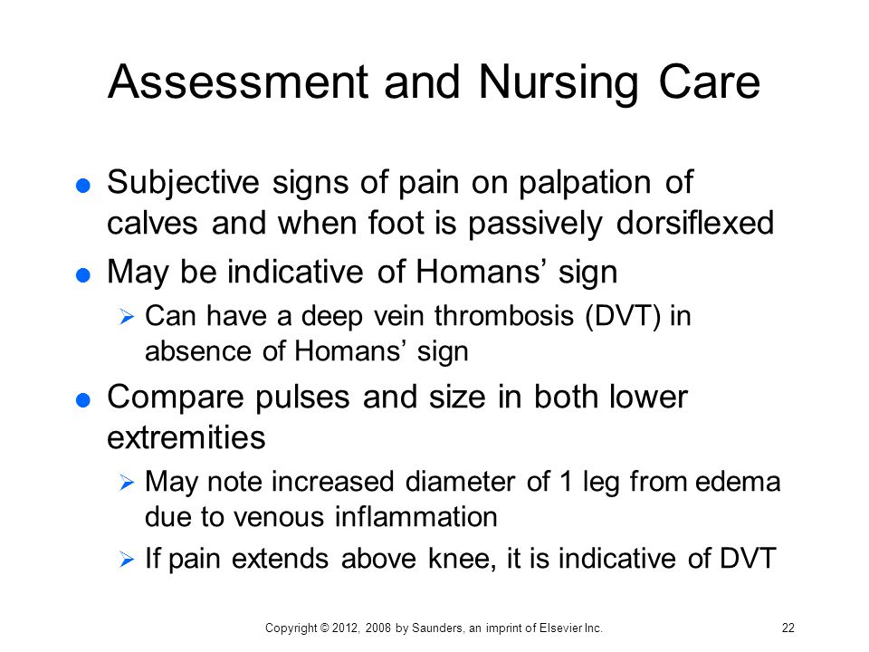 Assessment and Nursing Care
