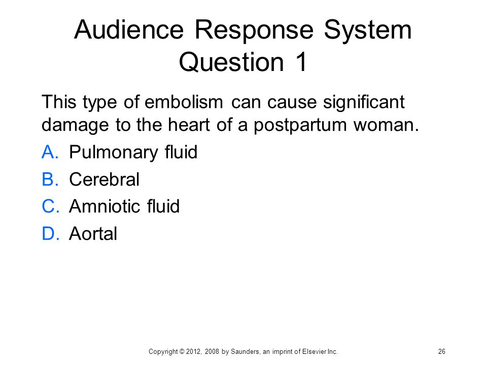 Audience Response System Question 1