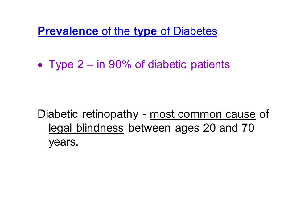 Prevalence of the type of Diabetes
