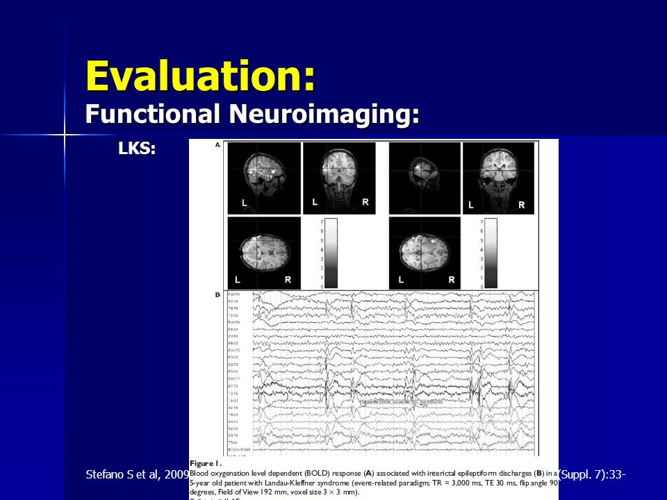 Evaluation: Functional Neuroimaging: LKS: