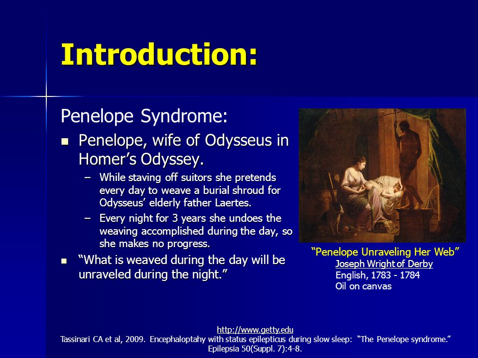 Introduction: Penelope Syndrome: