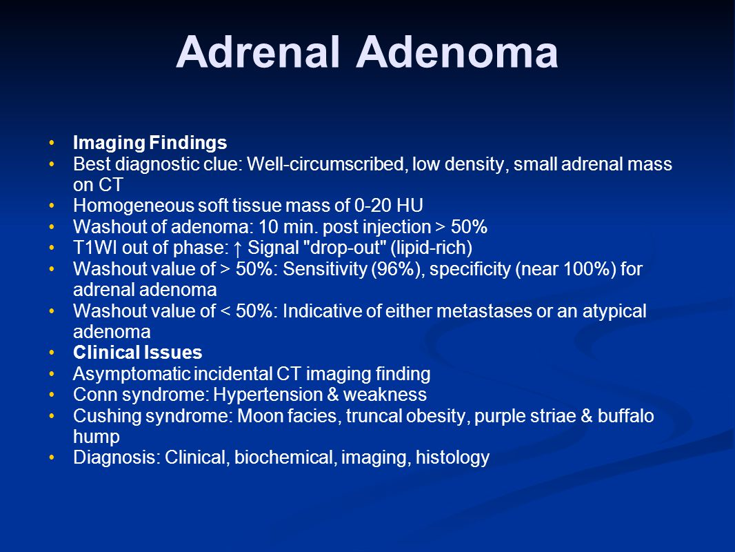 Adrenal Adenoma Imaging Findings