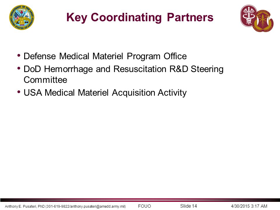 Key Coordinating Partners