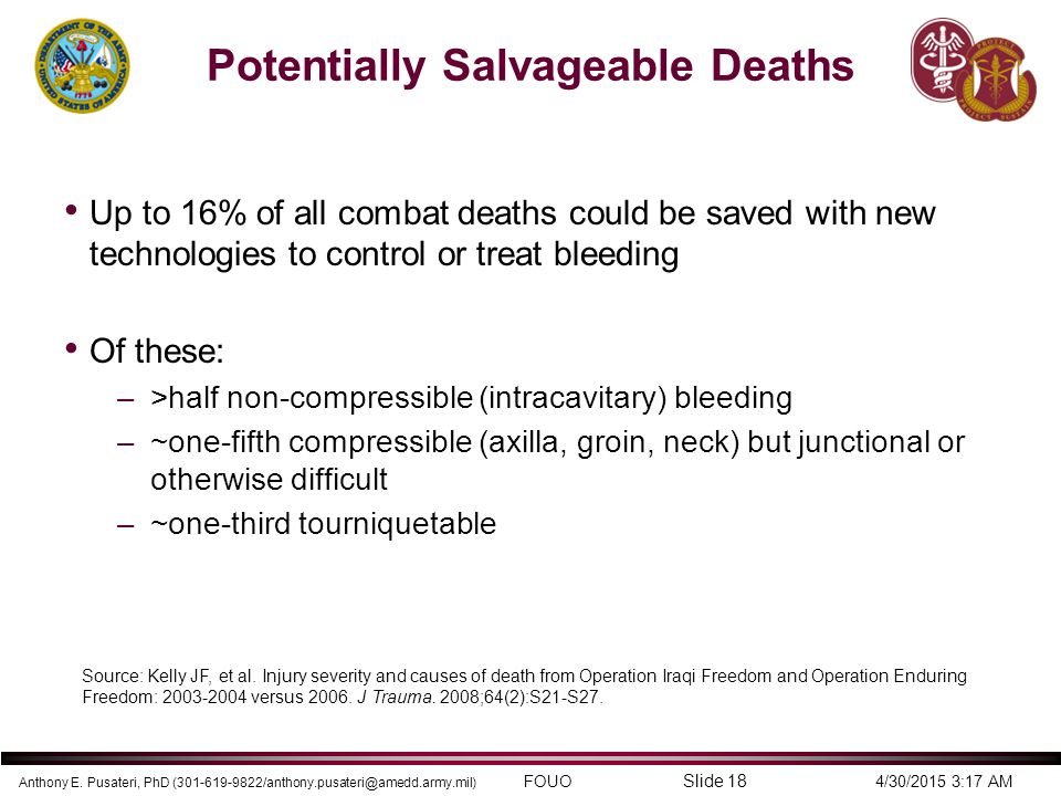 Potentially Salvageable Deaths