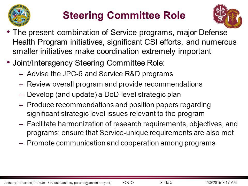 Steering Committee Role
