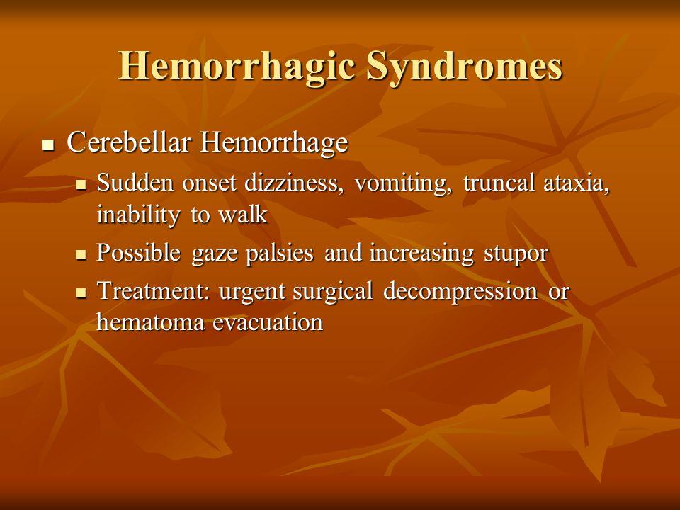 Hemorrhagic Syndromes