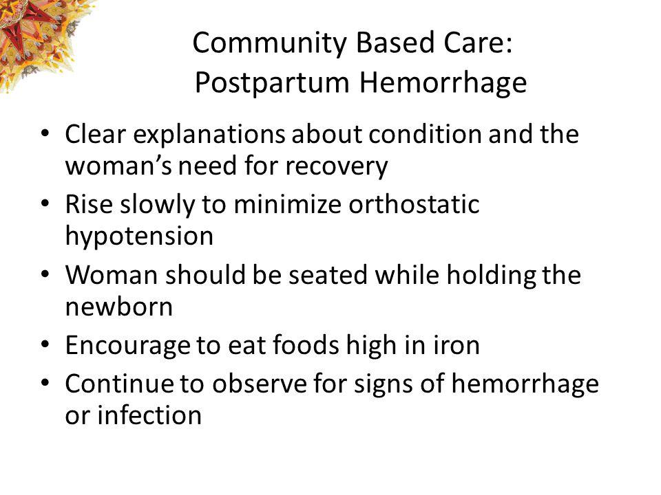 Community Based Care: Postpartum Hemorrhage