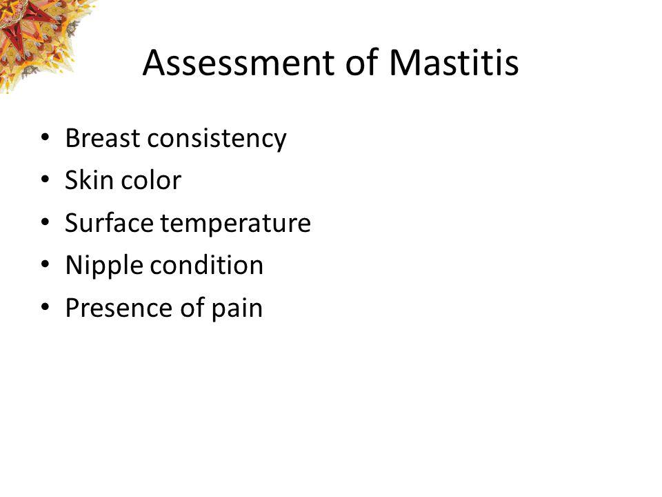 Assessment of Mastitis