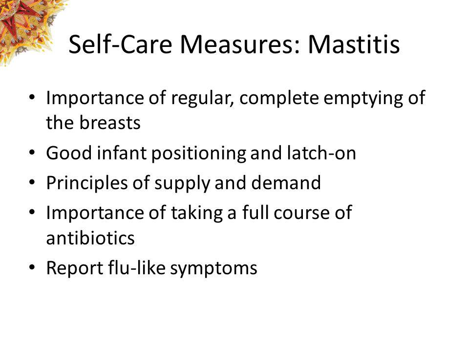 Self-Care Measures: Mastitis