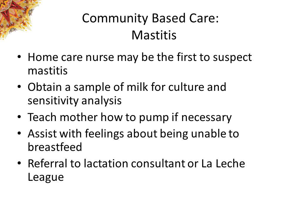 Community Based Care: Mastitis