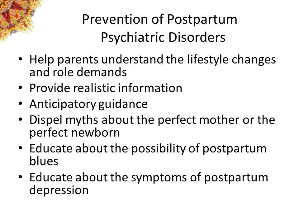 Prevention of Postpartum Psychiatric Disorders