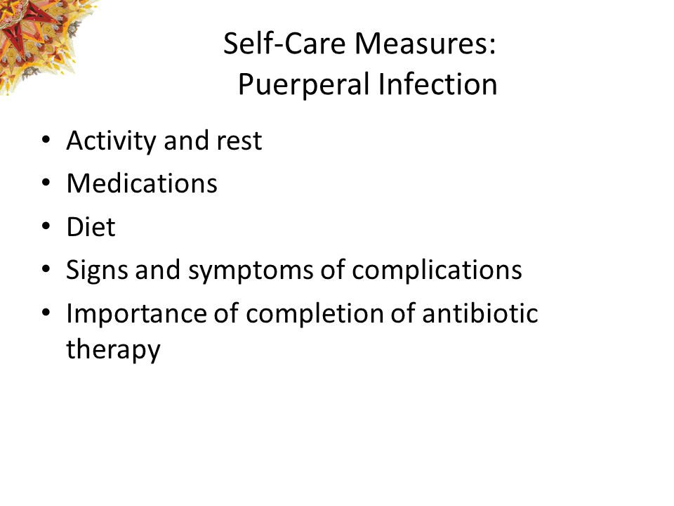 Self-Care Measures: Puerperal Infection