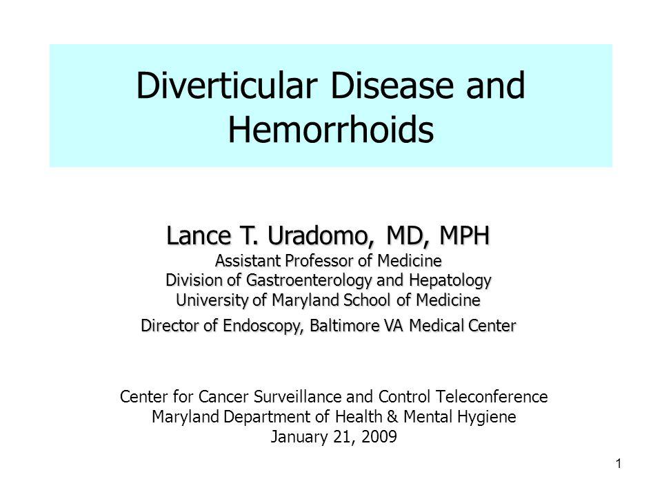 Diverticular Disease and Hemorrhoids