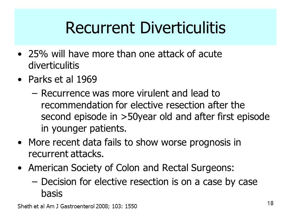Recurrent Diverticulitis