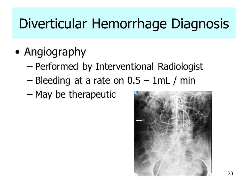 Diverticular Hemorrhage Diagnosis
